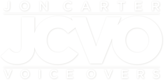 Jon Carter JVCO Voiceovers hero Logo